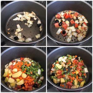saute onion and tomato
