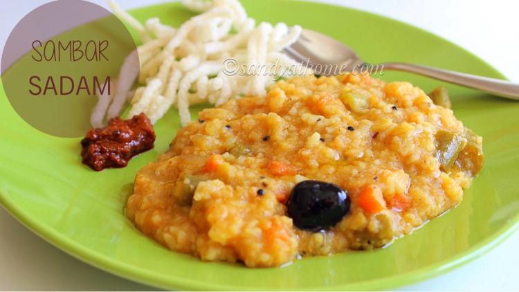 Sambar sadam recipe, Sambar rice recipe
