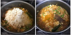 add rice and mix well