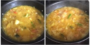 add water and allow the mixture to boil well for poori masala