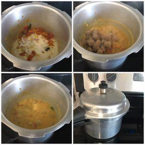 add coconut paste and soya chunk and cook soya chunk kurma