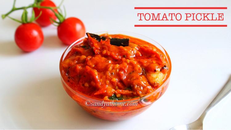 Instant tomato pickle, Tomato pachadi, Thakkali urugai