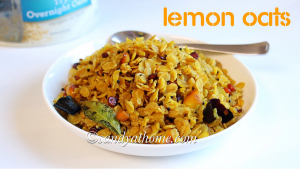 easy oats recipe, lemon oats