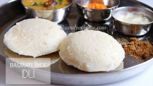 idli varieties, idli with basmati rice