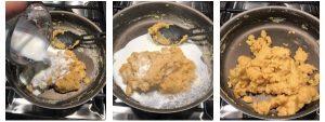 Add milk and stir halwa