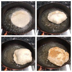 Fry poori in oil